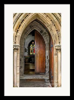 Wooden Door Digital Art Framed Prints