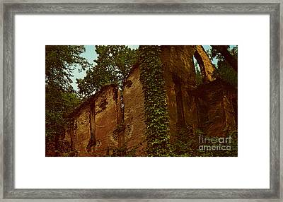 Old Church Ruins  Framed Print by Ruth  Housley