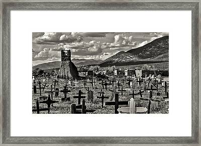 Old Church Taos Pueblo Framed Print