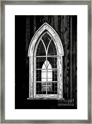 Framed Print featuring the photograph Old Church Window by Brad Allen Fine Art