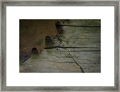 Old Circle Saw Framed Print by Aleks Miron
