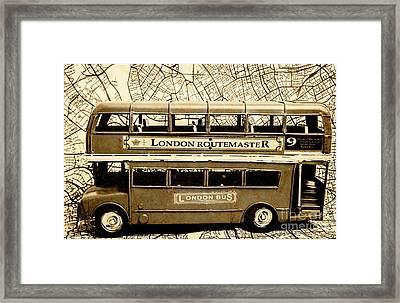 Old City Bus Tour Framed Print