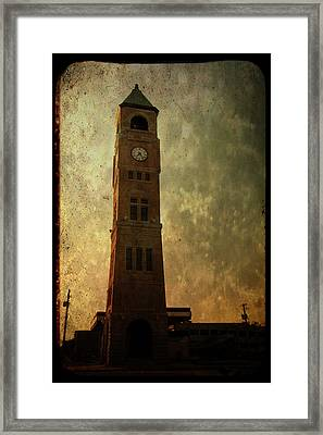 Old City Hall Clock Tower Framed Print by Joel Witmeyer