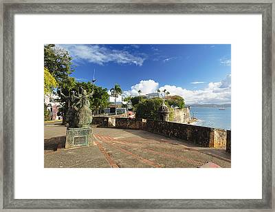 Old City In The Caribbean Framed Print by George Oze