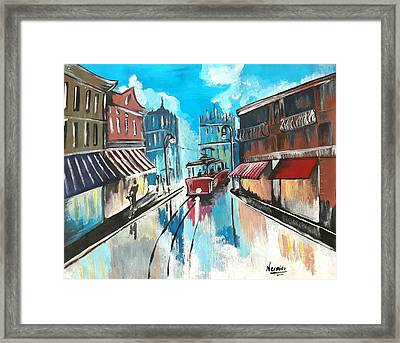 Old City Reflections  Framed Print by Nermine Hanna