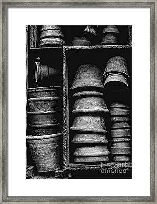 Framed Print featuring the photograph Old Clay Pots by Edward Fielding