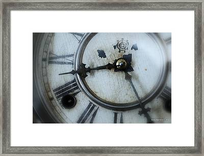 Old Clock Face Framed Print by Lois Lepisto