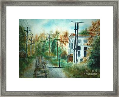 Old Cn Station Fort Langley Bc Framed Print by Vivian  Mosley