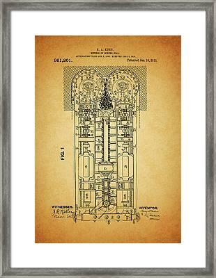 Old Coal Mine Design Framed Print