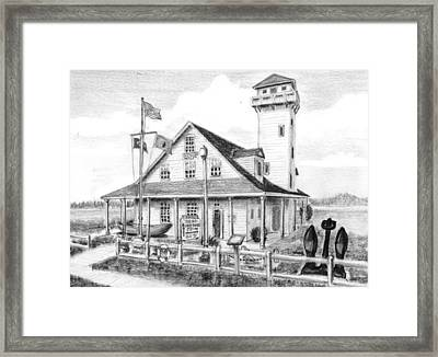 Old Coast Guard Station Framed Print