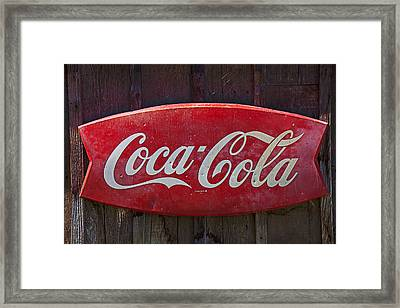 Old Coca-cola Sign On Barn Framed Print by Garry Gay