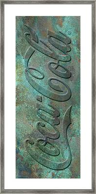 Old Coca Cola Sign Framed Print