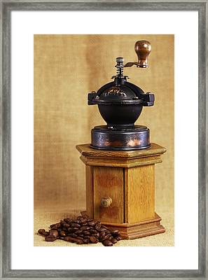 Old Coffee Grinder Framed Print by Falko Follert