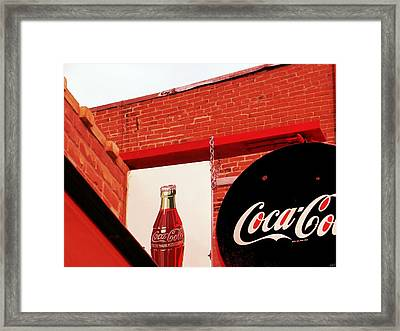 Old Coke Framed Print