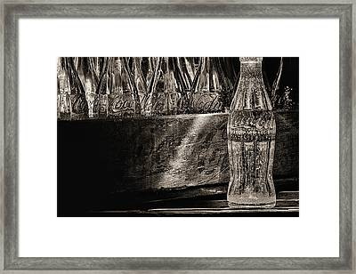 Old Coke Sepia Framed Print by JC Findley