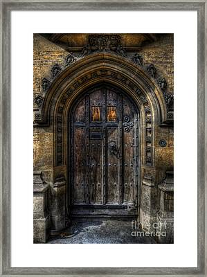 Old College Door - Oxford Framed Print by Yhun Suarez