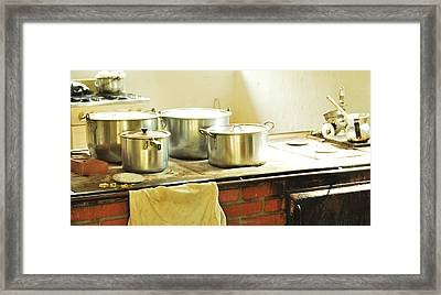 Old Colombian Kitchen Framed Print by HQ Photo