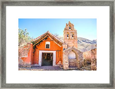Old Colonial Chapel Framed Print