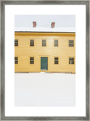 Old Colonial Era Period House In Winter Framed Print by Edward Fielding