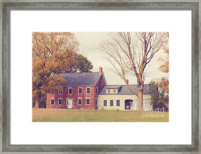 Old Colonial Farm House Vermont Framed Print by Edward Fielding