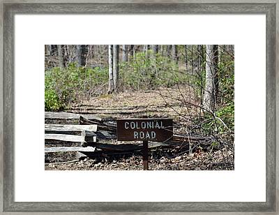 Old Colonial Road Framed Print by Bruce Gourley