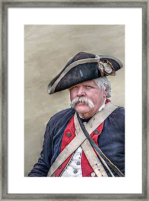 Old Colonial Soldier Portrait Framed Print by Randy Steele