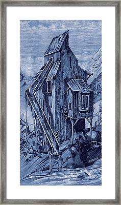 Old Colorado Mine Framed Print by Donn Kay