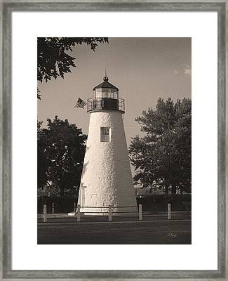 Old Concord Point Light Framed Print by Gordon Beck