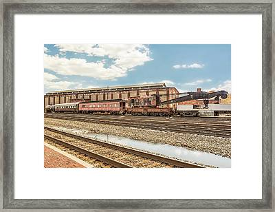 Old Conrail Crane Framed Print by Eclectic Art Photos