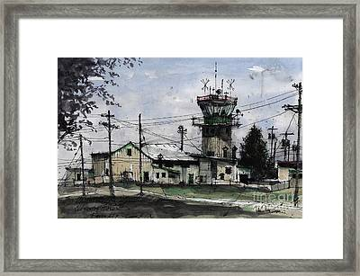 Old Control Tower At Reese Afb Framed Print by Tim Oliver