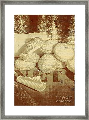 Old Cookie Tin Sign Art Framed Print