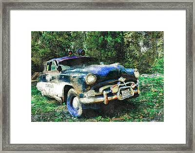 Old Cop Car Framed Print by Lalo D'art