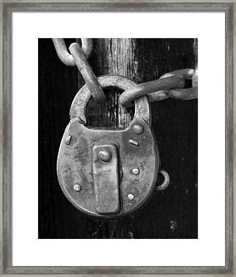 Old Corbin Padlock Framed Print