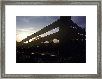 Old Corral At Sunset Framed Print by Charlie Osborn