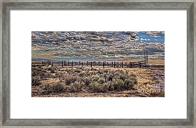 Old Corral Framed Print by Robert Bales