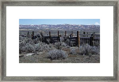 Old Corral Framed Print by Susan Pedrini