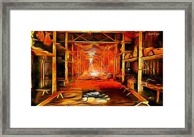 Old Cottage - Da Framed Print by Leonardo Digenio