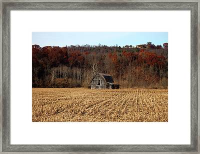 Old Country Barn In Autumn #1 Framed Print by Jeff Severson