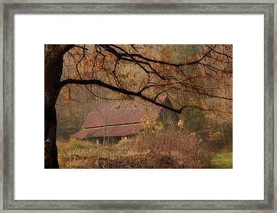 Old Country Barn Framed Print by Mike Eingle