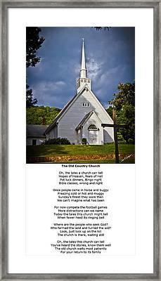 Old Country Church Framed Print by John Haldane