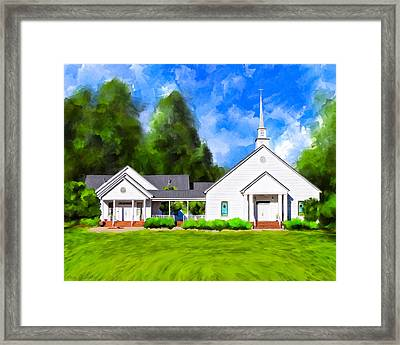 Old Country Church - Whitewater Baptist Framed Print