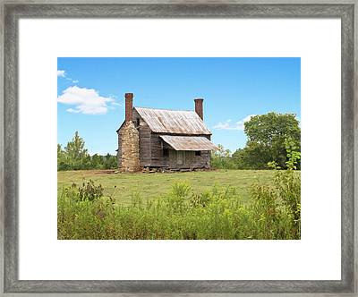 Old Country Farm House Framed Print
