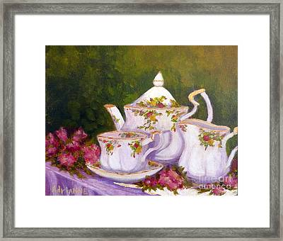 Old Country Roses Framed Print by Adrianne  Wagers