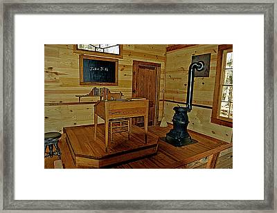 Old Country School Room Framed Print by Ralph  Perdomo