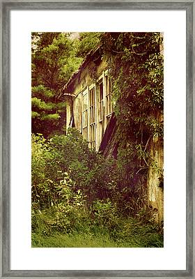 Old Country Schoolhouse. Framed Print by Kelly Nelson