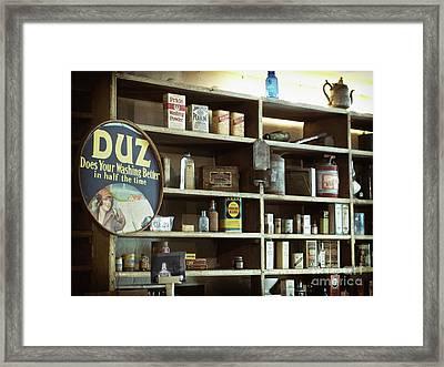 Old Country Store Shelves Framed Print