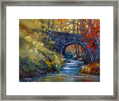 Old County Farm Bridge Framed Print
