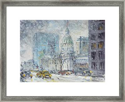 Old Courthouse From N 4th St. St.louis Framed Print