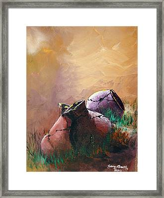 Old Cracked Pots-sold Framed Print by Gary Smith