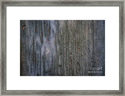 Old Cracked Wood Background Framed Print